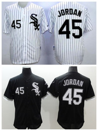 Wholesale Cheap Stitched Sports Jerseys - White Sox #45 Michael Jordan Black Baseball Jersey High Quality Stitched Baseball Shirts Cheap Sports Jerseys Athletic Baseball Wears