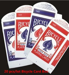 Wholesale Bicycle Card Box - Wholesale- 20 pcs lot Bicycle Card Box ( Red or Blue available) - Close Up Magic, Magic Trick