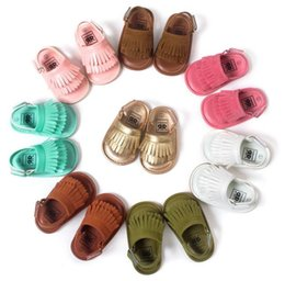 Wholesale Wholesale Shoes For Toddlers - Best quality Baby infant PU leather first walker shoes 2016 New fashion Tassels mocassins baby shoes soft soled shoes sandals for toddler
