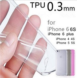 Wholesale Note Transparent - 0.3mm Crystal Clear Soft Silicone Transparent TPU Case Cover for iPhone 7 7 Plus 6 6S Plus Samsung Galaxy Note 7 S7 EDGE Goophone i7 Plus