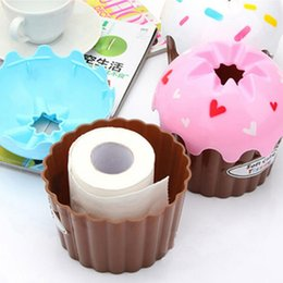 Wholesale Wholesale Paper Towel Dispensers - Wholesale- New Lovely Adorable HOT Ice Cream Cupcake Tissue Box Towel Holder Paper Container Dispenser Cover Home Decor random color