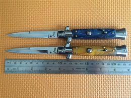 Wholesale Italy Models - Best Price! Promotion Italy AKC 9 INCH Acrylic handle 2 models single action pocket knife folding knife 1pcs freeshipping
