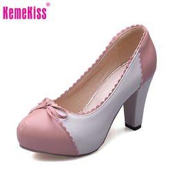 Wholesale Ladies Retro Sandals - retro round toe women sandals sweet square heel bowtie shoes ladies brand quality heeled footwear plus size 33-48 PC00005