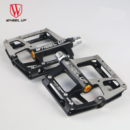 "Wholesale Mtb Bicycle Pedals - WHEEL UP Cycling Pedals Light Bicycle Pedals 9 16"" Foot Pegs Outdoor Sports MTB Road Bike Gear Cycling Bicycle Pedals K3002"