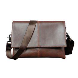 Wholesale Leather Briefcase For Laptop - Wholesale- HOT!! 2017 New Men's Messenger Bags Briefcase 100% PU Leather Bag Brand Luxury Laptop Shoulder Bag For Men