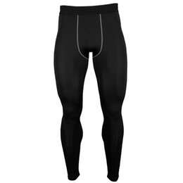 Wholesale Man S Fasion - Wholesale-NEW FASION Hot Sale Men Compression Tights Base Layer Quick Dry Leggings Fitness Crossfit Joggers Gym Workout Running Pants