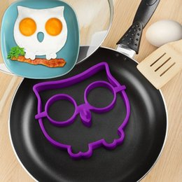 Wholesale Plastic Ring Mold - Food grade silicone Novel Trendy Silicone Skull  Owl Rabbit FRIED Silicone Fried Egg Mold Pancake Egg Cooking Tool XL-203