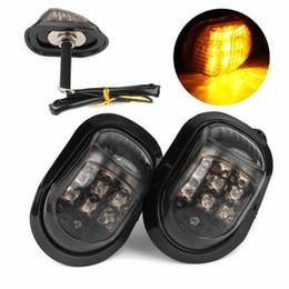 Wholesale Motorcycle Turn Signal Lights Flush - Motorcycle 12V Flush Mount 9 LED Turn Signal Blinker Light Lamp Amber