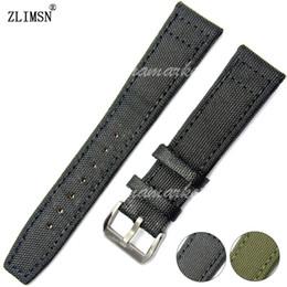 Banda de reloj de cuero de Nylon negro 20mm 21mm 22mm Cinturón de correa HQ nuevo sin hebilla de logo VENTA CALIENTE desde fabricantes