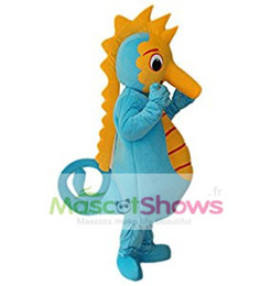 Wholesale Sea Mascot - Hippocampus sea horse Adult Mascot Costume Adult Size Character for Christmas Party