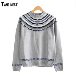 Wholesale Vintage Style Sweaters New - Wholesale-2016 New Arrival Retro Style Men's Fashion Thick Sweaters Men Casual Vintage O-Neck Pullovers MZM386