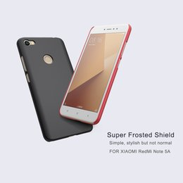Wholesale Note Free Case - Phone cover for XIAOMI RedMi note 5A note 5A (prime) Ultra NILLKIN Super Frosted Shield matte hard back cover with free screen protector
