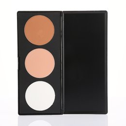 Wholesale Up Profile - no logo 3 color natrual concealer pressed cosmetics powder palette profile face make up welcome logo print OEM order