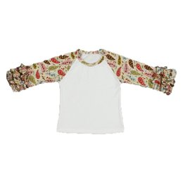a698853180d Fashion Geometric Print Big Girls T-shirt Hot Sales Stella Boutique Clothing  Sweet Girls Icing Raglan T-shirt