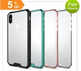 Wholesale Water Drop Frame - For iphone X Cell Phone Cases With iphone 8 Plus 7 6s Mobile Phone Shell Air Bag Drop Protection Frame Transparent Silicone Factory Price