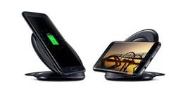Titular universal qi carregador sem fio rápido de carregamento para samsung nota galaxy s6 s7 borda pad móvel com pacote de varejo de