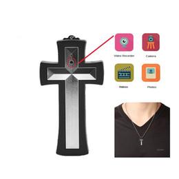 Wholesale Necklace Hidden - 16GB Cross Necklace Spy Camera Hidden Digital Camcorder Mini DVR Camera & Audio Recorder Easy to Use Candid camera Free Shipping