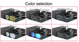 2019 óculos de sol piloto mercúrio 6 cores de modelagem Piloto HDCRAFTER marca Polarized óculos de Sol dos homens Anti-Reflexo Quadro de liga revestimento de mercúrio Designer De Pesca de condução óculos óculos de sol piloto mercúrio barato