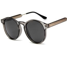 2017 Nuovi occhiali rotondi Candy Color Moda Donna Occhiali da sole Cornice trasparente Occhiali da sole Uomo Anti-UV lentes de sol hombre Y58 da