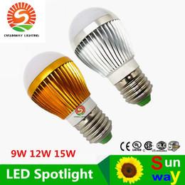 Wholesale Dimmable Ball Light 15w - Dimmable Bulb Bubble Ball 9W 12W 15W E27 E26 high power LED light globe light bulbs Lighting Lamp free shipping