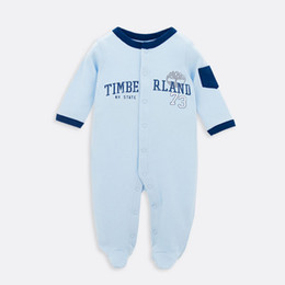 Wholesale Girls Footies - Buy 2016 Spring Baby Footies 100% Cotton Bebe Clothing Long-sleeved One Pieces Jumpsuit For Infant Baby