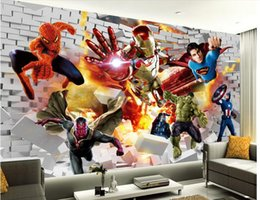 Wholesale Picture Book Kids - 3d wallpaper custom photo non-woven mural wall sticker Comic book hero painting picture 3d wall room murals wallpaper