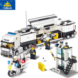 Wholesale Kazi Blocks - KAZI 6727 Building Blocks Police Station Model Building Blocks 511+pcs Playmobil Blocks DIY Bricks Educational Toys For Children