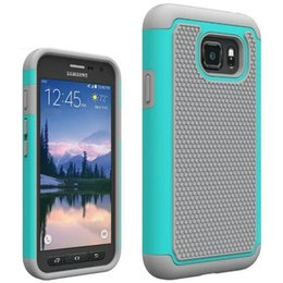 Wholesale Active Dual - Silicone+PC Dual Layer Rugged Combo Armor Case For Samsung Galaxy S5 S6 S7 Active Grand Prime G530 Core prime G360 Cover Skin Shockproof
