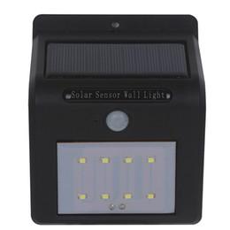 Applique murale en Ligne-Envoi par DHL Applique murale solaire à LED Sans fil Capteur de mouvement PIR Lumière Jardin extérieur Paysage Cour Cour Éclairage mural