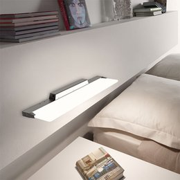 Wholesale Toilet Mirror Light - New acrylic transparent quadrate bathroom toilet dresser bedroom mirror lamp wall lamp contracted and contemporary led lights