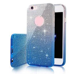 Canada Ultra Mince Changement Graduel Couleur Bling Glitter Case TPU Doux Antichoc Boîtiers Couverture Pour iPhone X 8 7 6S 6 5 Plus Sumsung S8 S7 Plus Bord J7 Offre