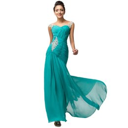 Wholesale Turquoise Sequin Bodice - Long green prom dresses 2016 New arrive Turquoise special occasion dress ruched bodice beading gowns prom dress formal dresses Custom made