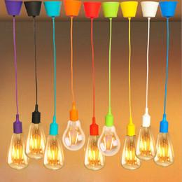 2019 luzes de tira led comercial Luzes pingente E27 Titular 220 V 110 V Loft Moderna Lâmpada Do Vintage lustre colgantes Lampada Multi Cores para Cozinha Restaurante Lâmpadas de iluminação