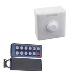 Wholesale 24v 8a - Dimmer DC 12V 24V 8A IR Remote LED Light Dimmer 12 Key Adjustable Brightness Control Screw