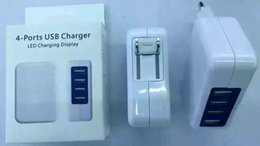 Wholesale Dock I5 - Full 3.1A 4 Port USB Charger US EU Plugs Four USB Wall Charger Travel Charger For iPhone 6s i5 Samsung s7 Galaxy s6 With Retail packaging
