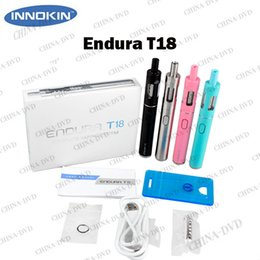 Wholesale E Cigarette Innokin - Authentic Innokin Endura T18 Vaporizer electronic cigarettes Kit Top Filling 2.5mL T18 Sub Ohm Vape Tank Atomizer T18 1000mAh e cigs Battery
