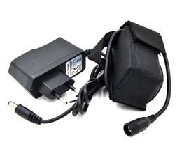 Faros delanteros recargables online-Paquete de batería recargable de 8.4V 6400mAh 4 * 18650 para el faro de la bicicleta de la bici para la batería de la linterna LED de la bicicleta con el cargador