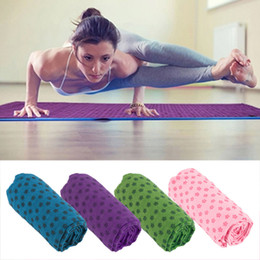 Wholesale Pvc Mat Yoga - Soft Travel Sport Fitness Exercise Yoga Pilates Mat Cover Towel Blanket 183*61*0.6 for Free Shipping