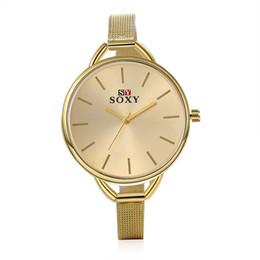 Wholesale Oversized Wrist Watches - Luxury Woman Oversized Watch Japanese Quartz Movement Gold Round Dial Classic Business Ultra Thin Wrist Watch Relogio Feminino Brand New 075