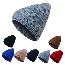 padrões de tricô de chapéu de lã Desconto Nova Coréia do Sul chapéu de caxemira quente para homens mulheres ao ar livre selvagem quente malha chapéu cap cap padrão de onda outono inverno quente cap lã