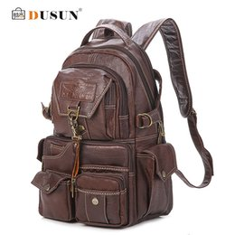 Wholesale Cashmere Leather Material - 2016 The New Large Capacity PVC Material College Vintage Shoulder Women's Backpack Students Travel Computer Leather Bag Mochilas