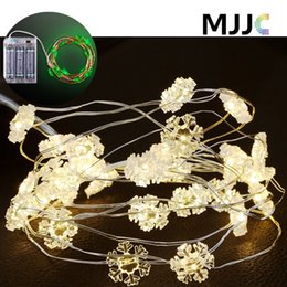 Wholesale Shape Fairy Lights - Christmas Fairy String Light Battery Operated LED String 3M 30leds Copper Wire Mutil-shape Waterproof for Christmas Wedding Indoor Outdoor