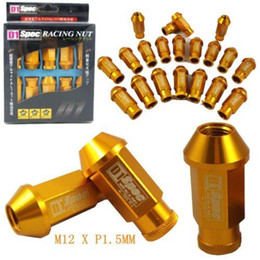 Wholesale D1 Spec Lug Nuts - D1-SPEC GOLD JDM WHEEL LUG NUT FOR HONDA ACURA INTEGRA M12 X 1.5MM 20PCS NEW free shipping yy109
