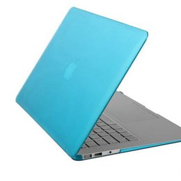 Wholesale Pc Macbook Air - Rubberized Crystal Surface Hard Cover Case For Macbook Air Pro Pro Retina 11 13 15 inch Clear Crystal Rubberized Matte Surface Hard PC Cover