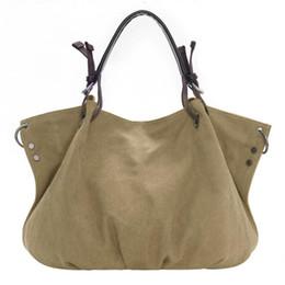 Wholesale Leather Handles For Handbags - Fashion Bags Totes Women's Handbag Tote Purse Canvas Oversized Hobo Top Handle Genuine Leather Tote Handbag Shoulder Bag For Women