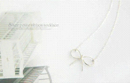 Wholesale Cheap Gift Bows - N288 Korean jewelry wholesale fashion exquisite atmosphere beautifully simple bow sweater chain necklace Cheap necklace mp3
