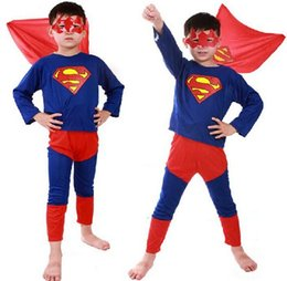 Wholesale Baby Spiderman Costumes - 150sets 2016 5 color Spiderman Superman Batman Zorro Halloween Costume Suits Kits Kids BABY long sleeve superhero costume cosplay set