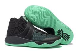 Wholesale Kids Black Basketball Shoes - Mens Kids Children Athletic KYRIE 2 Sneakers Green Glow Black Basketball Shoes