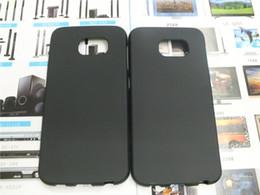 Wholesale S Shape Phone Cases - Matte Elegant S Line Shape TPU Gel Case For Samsung Galaxy S6 G920F G9200 Mobile Phone Rubble Skin Black Cover