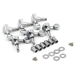 Wholesale Electric Guitar Pegs - 6 Chrome Guitar String Tuning Pegs Tuners Machine Heads Acoustic Electric